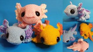 KMI #2: How to crochet an axolotl amigurumi - super cute!
