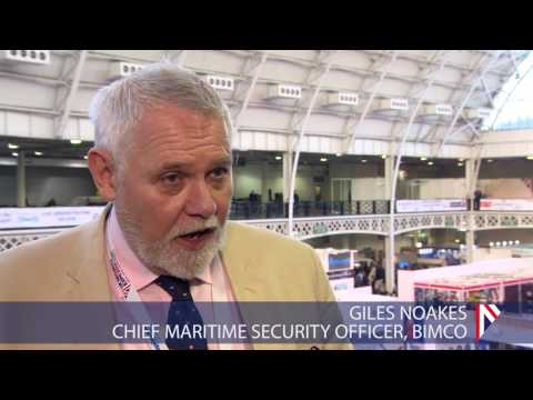 Chief Maritime Security Officer for Bimco Giles Noakes at UK Security Expo