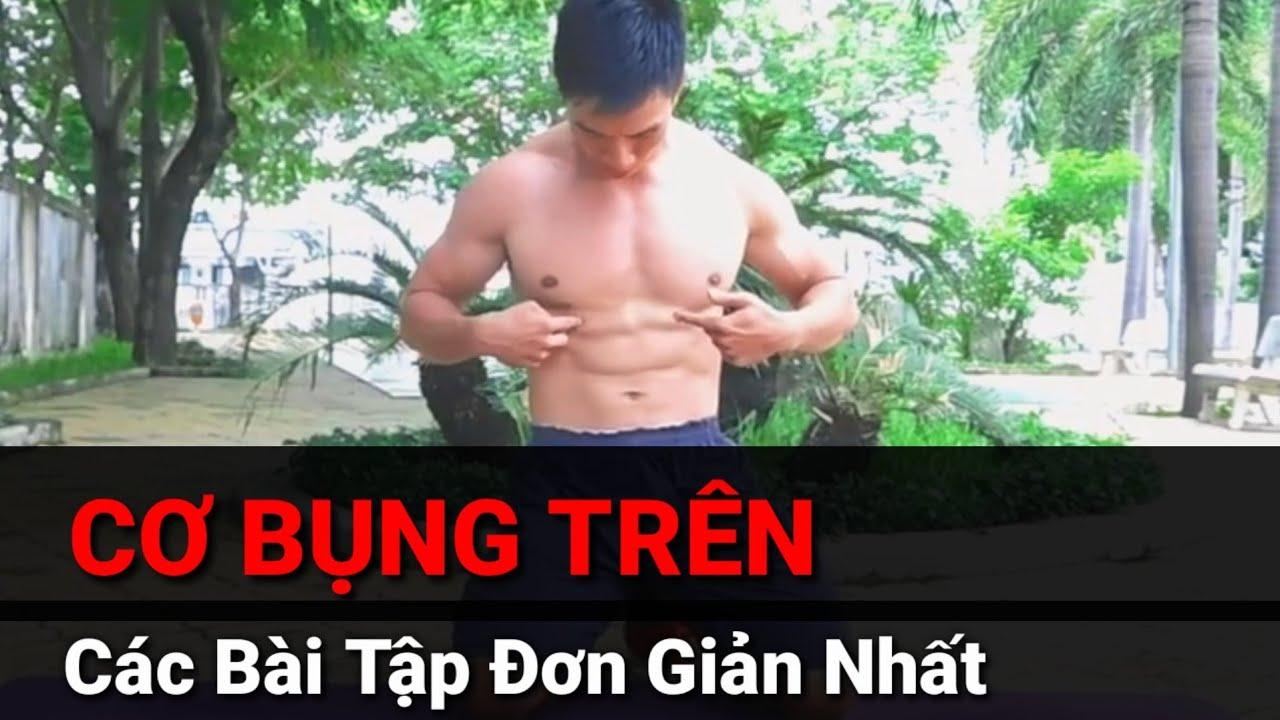 CƠ BỤNG TRÊN – Các Bài Tập Đơn Giản Nhất Hiệu Quả Nhất – Junie HLV Ryan Long Fitness