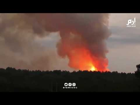 **Massive Explosion at a Military Warehouse in Russia** (Original Full Video)