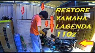 Yamaha lagenda 110z | restore | time lapse | xiaomi yi 2k