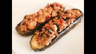 Баклажаны с мясом и овощами, запеченные в духовке - вкусный рецепт