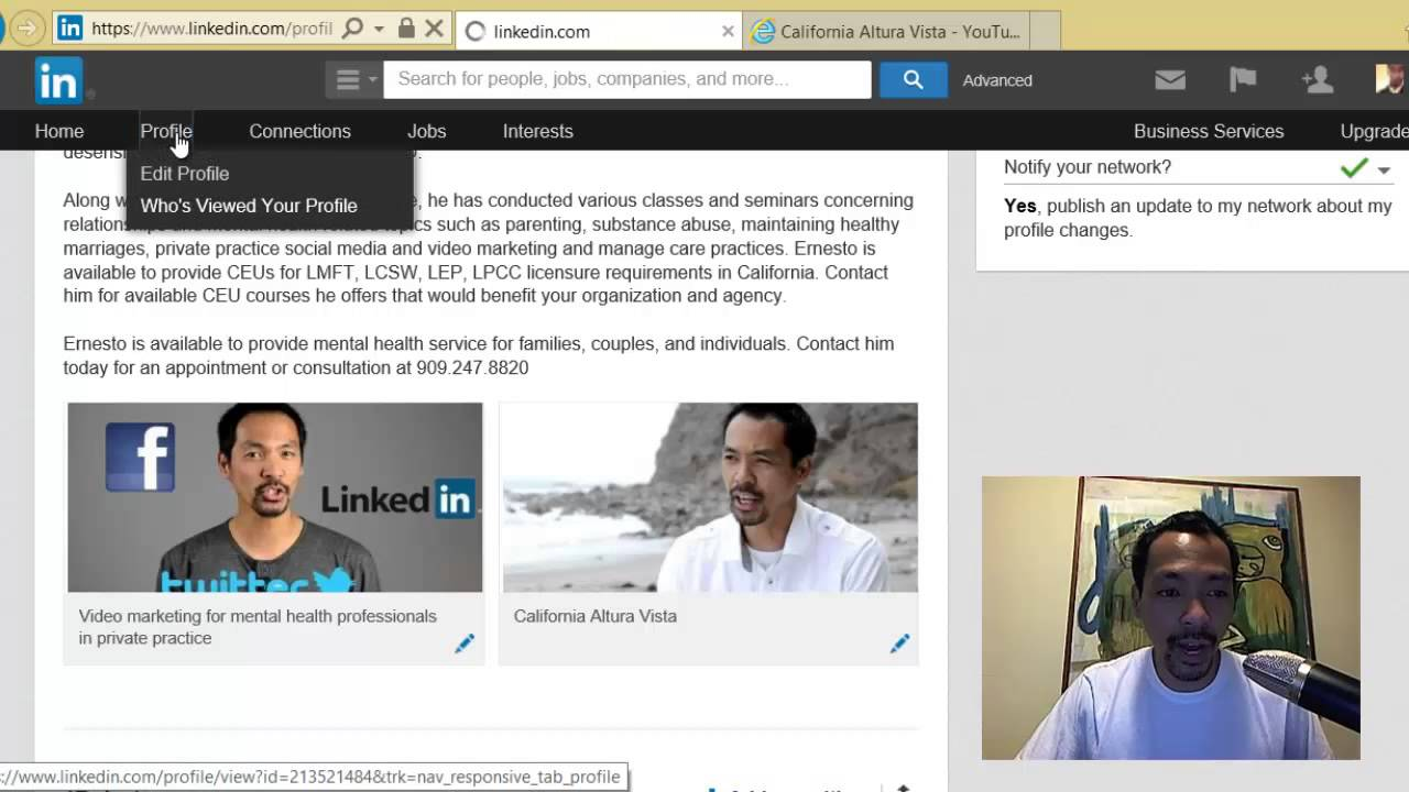how to upload a on your linkedin profile