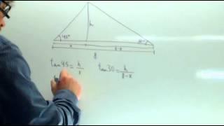 Altura de un triangulo Trigonometria Usero