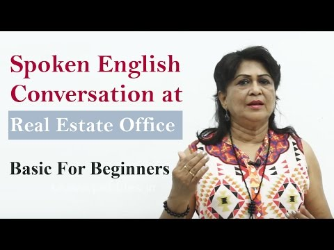 Conversation at the Real Estate Office    Spoken English Learning Basic For Beginners