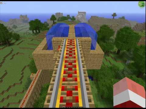 [Minecraft] Le grand 8 le plus grand au monde !