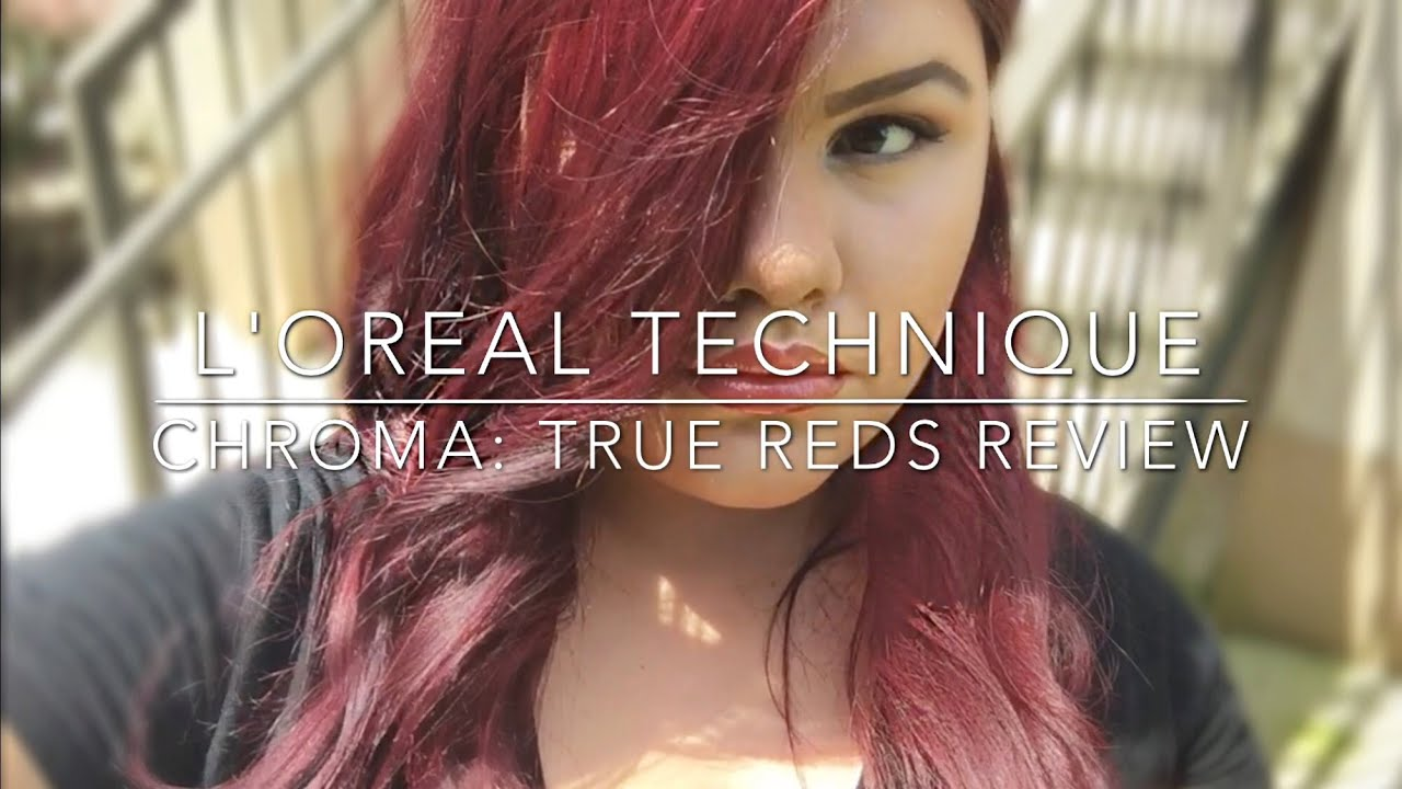 Loreal Technique Chroma True Reds 3 Week Review Youtube
