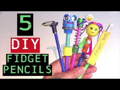 4d055f74fb DIY FIDGET TOY PENCILS -HOW TO MAKE FIDGET TOYS FOR SCHOOL -HOW TO MAKE  PENCIL TOPPERS- EASY TO MAKE - YouTube