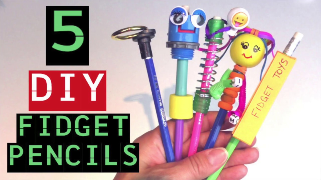Diy Fidget Toy Pencils How To Make Fidget Toys For School How To