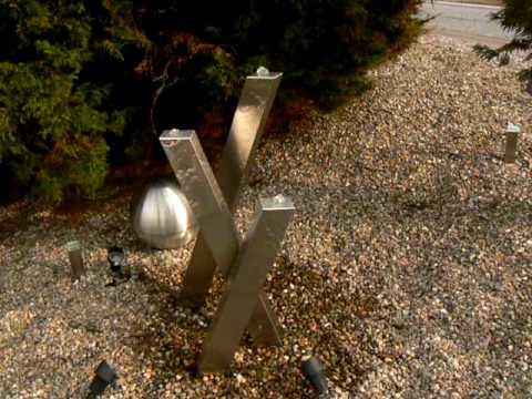 Gartenbrunnen Edelstahl Von Www Designer Brunnen De Youtube