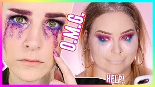 I TRIED FOLLOWING A SIMPLY NAILOGICAL MAKEUP TUTORIAL... WOW! thumbnail