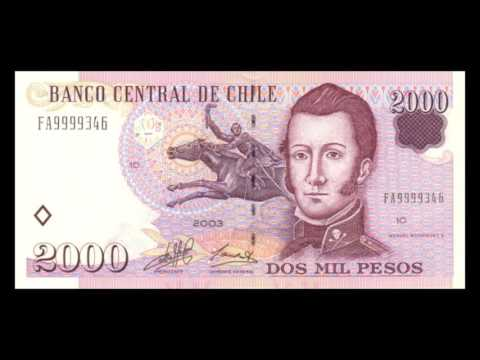 All Chilean Peso Banknotes - Banco Central de Chile - 1975 to 2009 Issues
