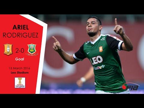 Ariel Rodriguez - Bangkok Glass 2-0 Army United - Thai League 2016