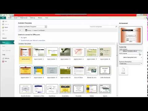 How to make Certificate in Microsoft Publisher - YouTube