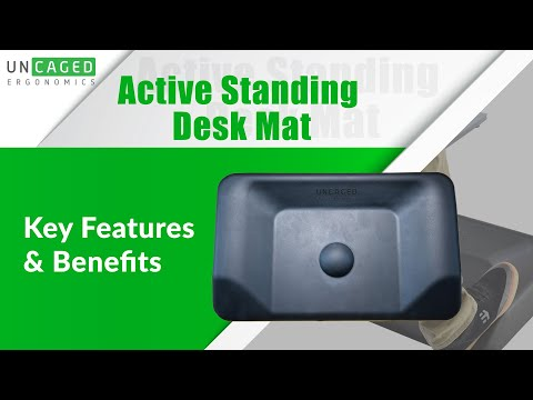 Active Standing Mat - Contoured Anti Fatigue Floor Mat Designed by Uncaged Ergonomics