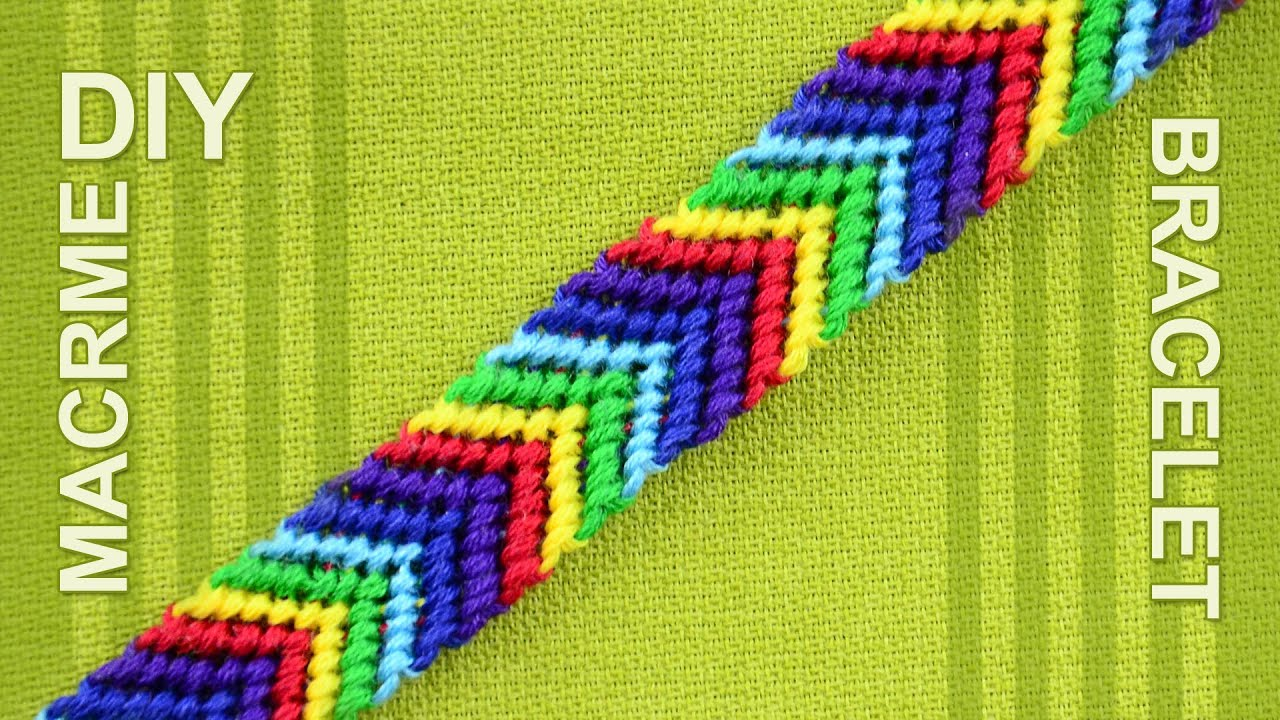 How to make a Chevron (Arrows) Rainbow Friendship bracelet ...