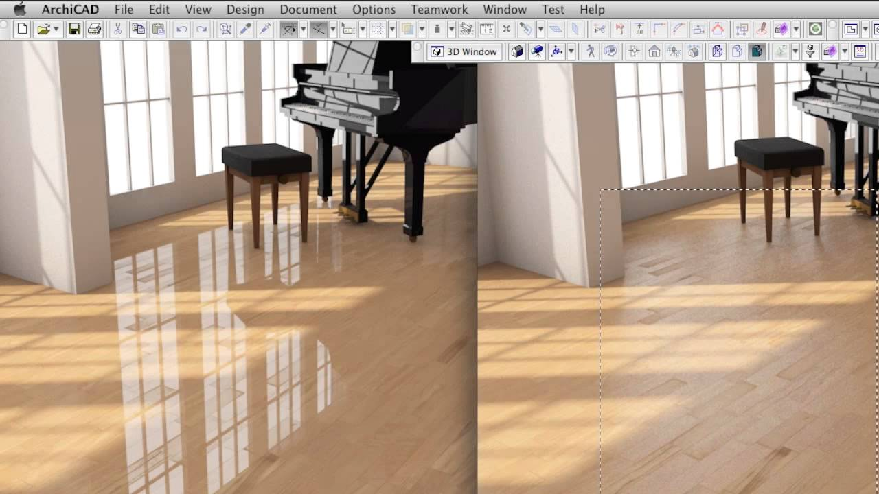 Creating a Highend Wood Surface Material in ARCHICAD