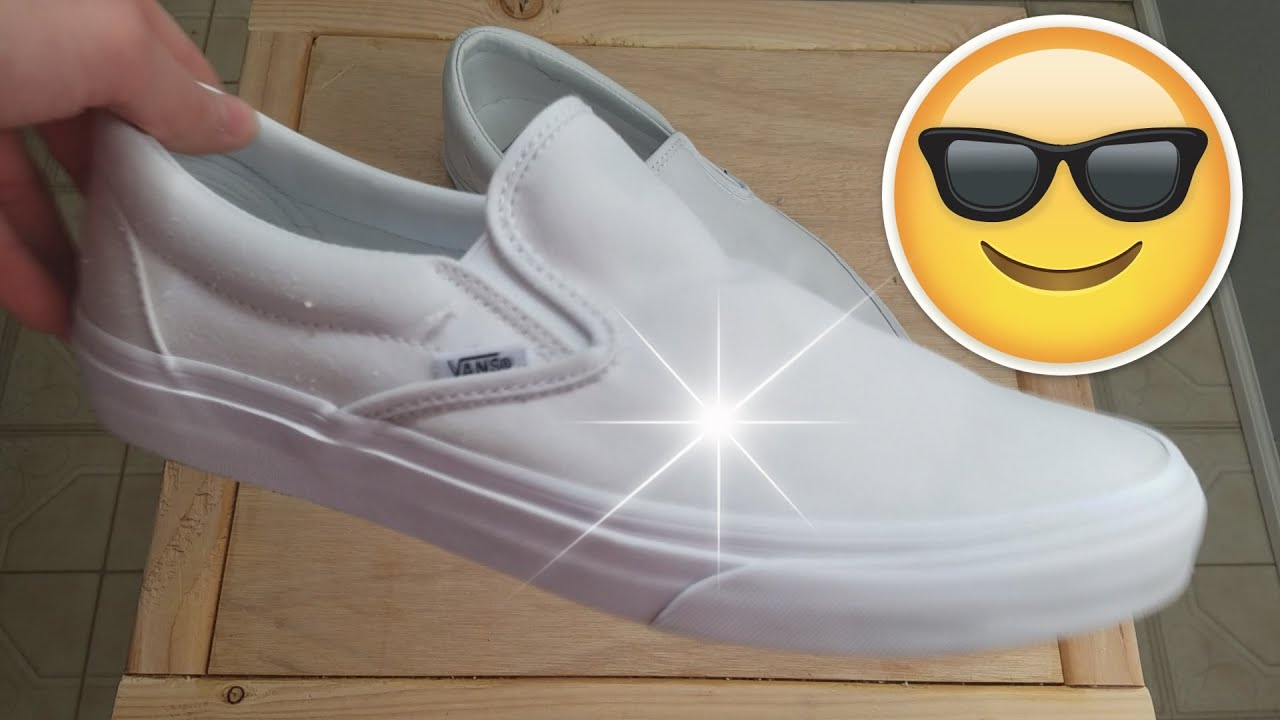 How To Clean White Vans 2018 EASY  YouTube