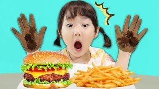 간식 먹기 전 마슈랑 손을 깨끗히 씻어요! 손씻기 놀이 Wash Your Hands with Mashu Video for Kids - 마슈토이 Mashu ToysReview
