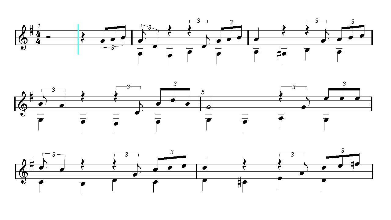 Classical Guitar - Happy Xmas - John Lennon - Christmas Song (Sheet ...