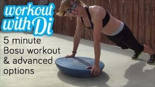 5 minute bosu interval workout w advanced exercises