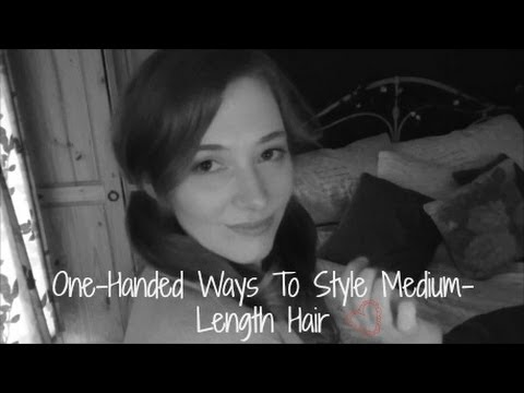 ways to style shoulder length hair one handed ways to style medium length hair 2481