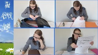 Library Study Role Play - ASMR (page turning, whispering, writing - 3D Sound)