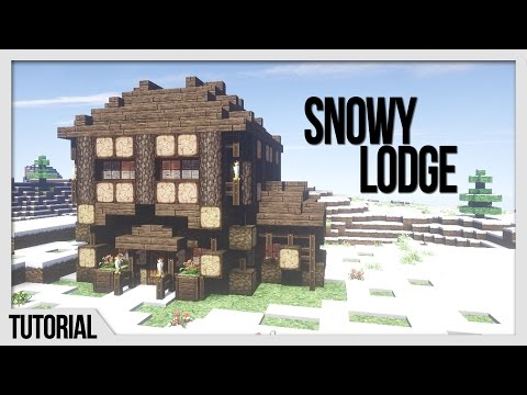 Repeat Winter Cabin - Minecraft Building Tutorial - How to Build