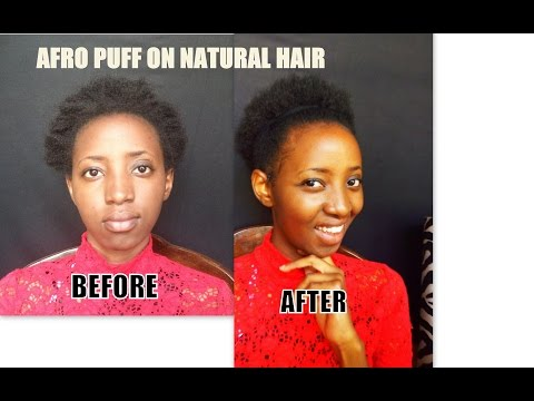 HOW TO STYLE SHORT NATURAL HAIR INTO AN AFRO 4c