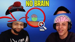 DAEQUAN DISCOVERS THE REAL SIZE OF HIS BRAIN!? *HILARIOUS* - Fortnite Moments #129