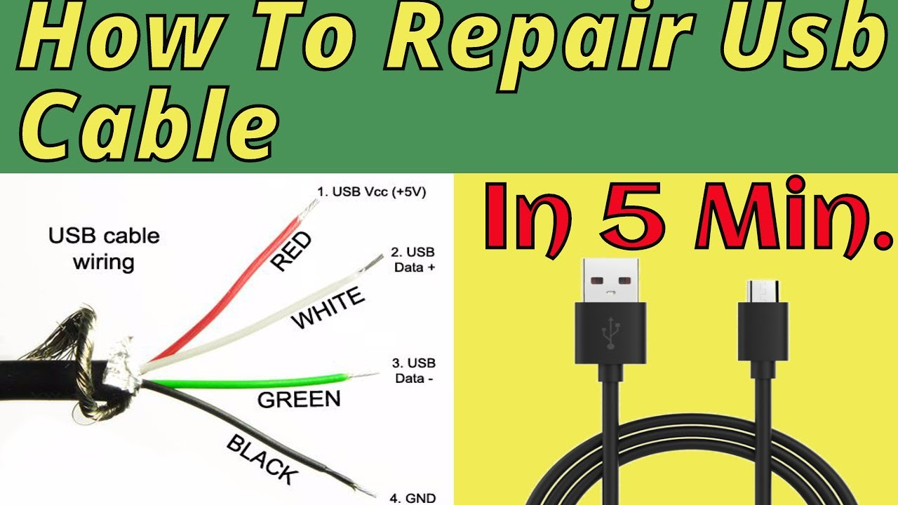 Android Micro Usb Cable Wiring Diagram How To Repair Usb Cable 100 Fix Youtube