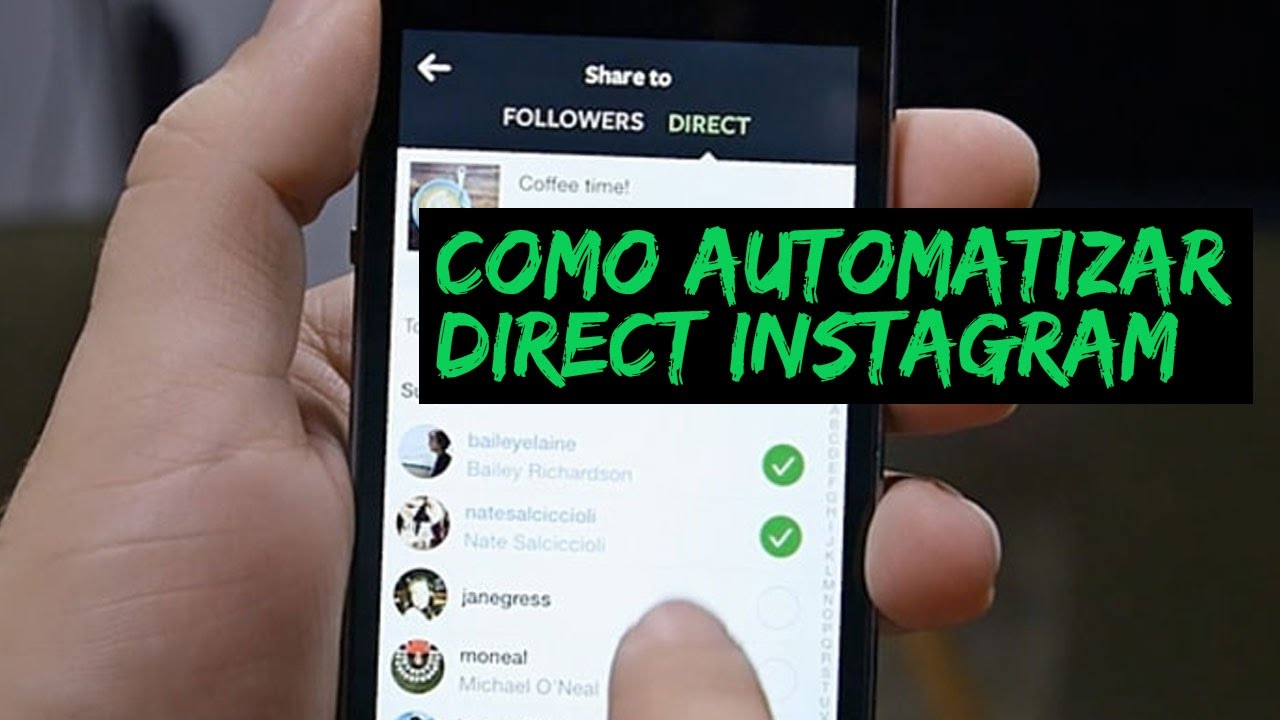 Como Automatizar Mensagem Direct No Instagram Youtube