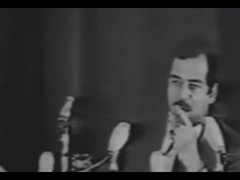 That moment Saddam Hussein took power on live television.