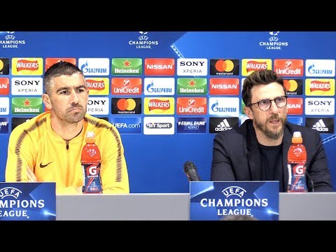 Eusebio Di Francesco & Aleksandar Kolarov Pre-Match Press Conference - Liverpool v Roma - Semi-Final