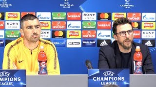 Eusebio Di Francesco & Aleksandar Kolarov Pre-Match Press Conference - Liverpool v Roma - Semi-Final