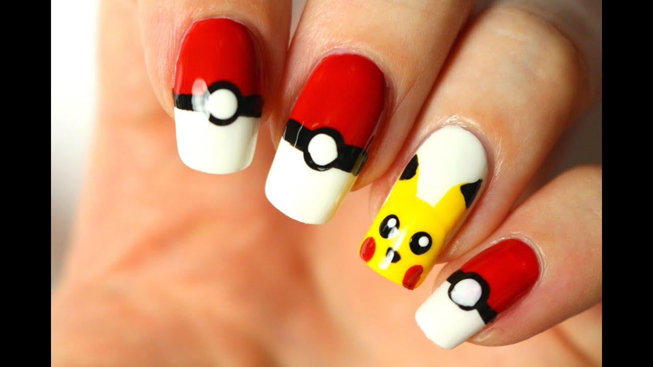 Pokemon Go Le Nail Art Pikachu Youtube