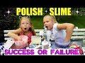 DIY POLISH SLIME TESTED!!! Making Slime in Poland!!!