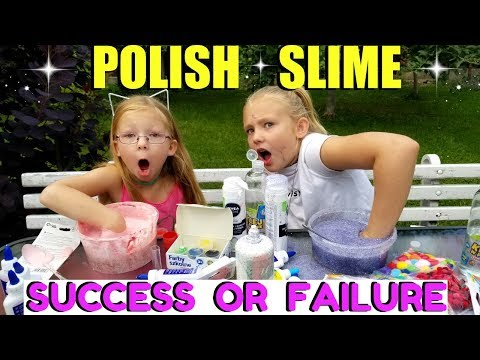 DIY POLISH SLIME TESTED Making Slime in Poland