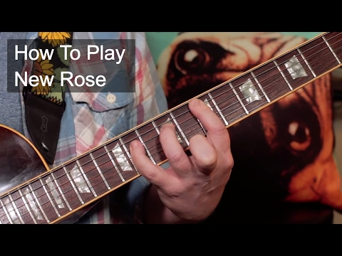 'New Rose' The Damned Guitar Lesson