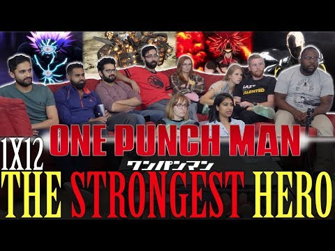 One Punch Man - 1x12 The Strongest Hero - Group Reaction