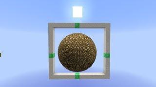 Minecraft комманд блок : Как сделать шар! (snapshot 14w18b)
