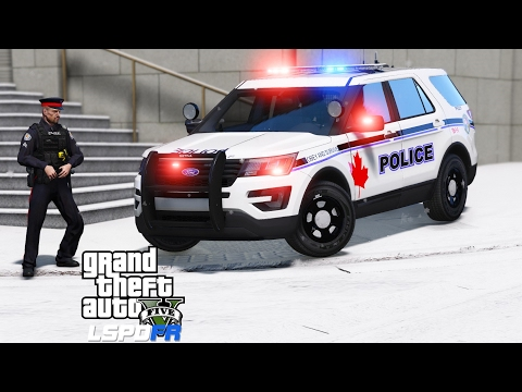 GTA 5 LSPDFR Police Mod 374 | Windsor Police Service Texture Pack | Snow Day In Canada
