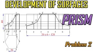 Development of Surface of Prism_Problem 2