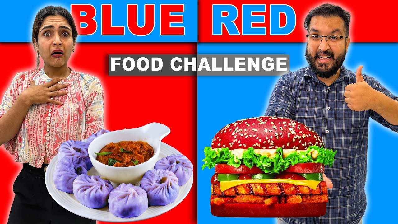 Having Only ONE COLOR of Food || 30 minute Food Challenge