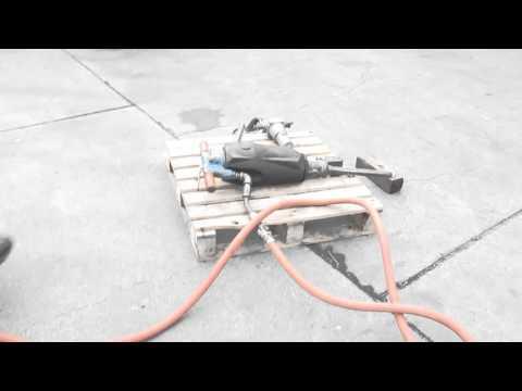 Grimmer Schmidt 125 CFM Towable Air Compressor Ford Gas Engine with jackhammer