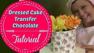 Dressed Cake Transfer de Chocolate - Confeitaria Online Oficial