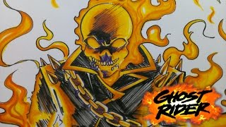 Drawing Marvel Ghost Rider