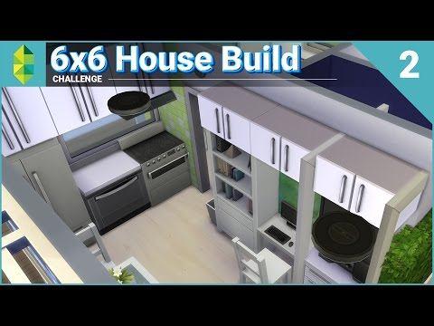 6x6 House Build CHALLENGE - Part 2 of 2 (Sims 4)