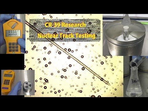 Cold Fusion update#3 : CR-39 Research, Nuclear Track Testing. AKA: Dosimeter
