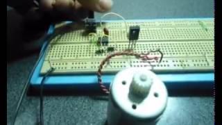 variateur de vitesse moteur dc 12v  base de ne555